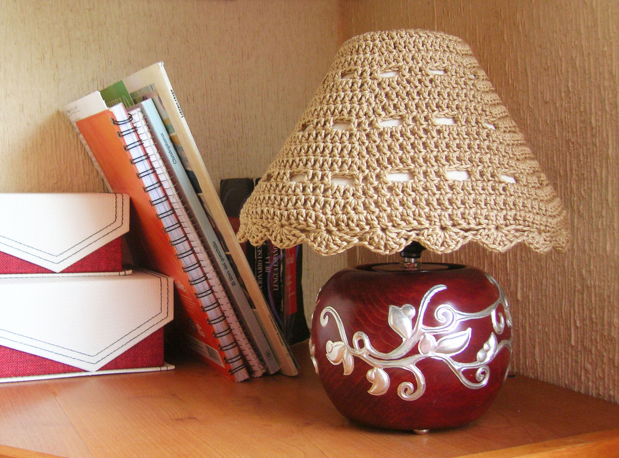How To Crochet A Lampshade Pictures to pin on Pinterest