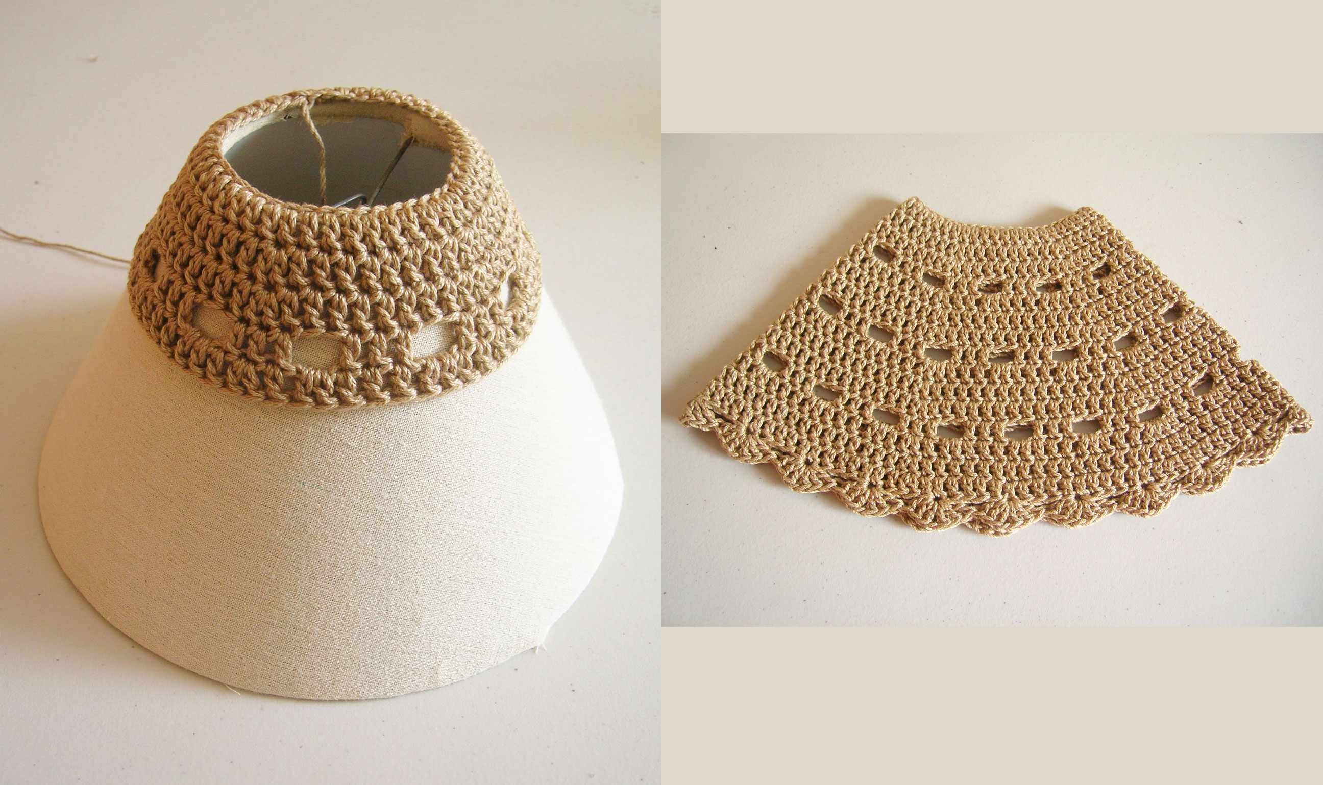 Free Pattern Crochet Lampshade : crochet lampshade Chabepatterns