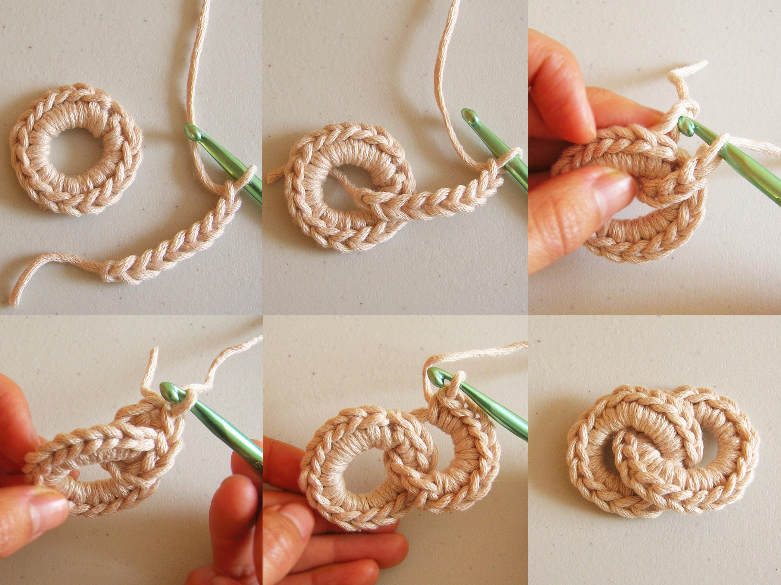 Crochet chain necklace collar de cadena tejida - Como hacer flores de ganchillo ...