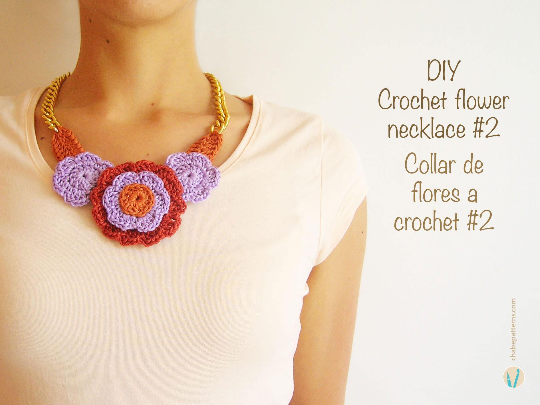 Crochet flower necklace #2/ Collar de flores a crochet #2