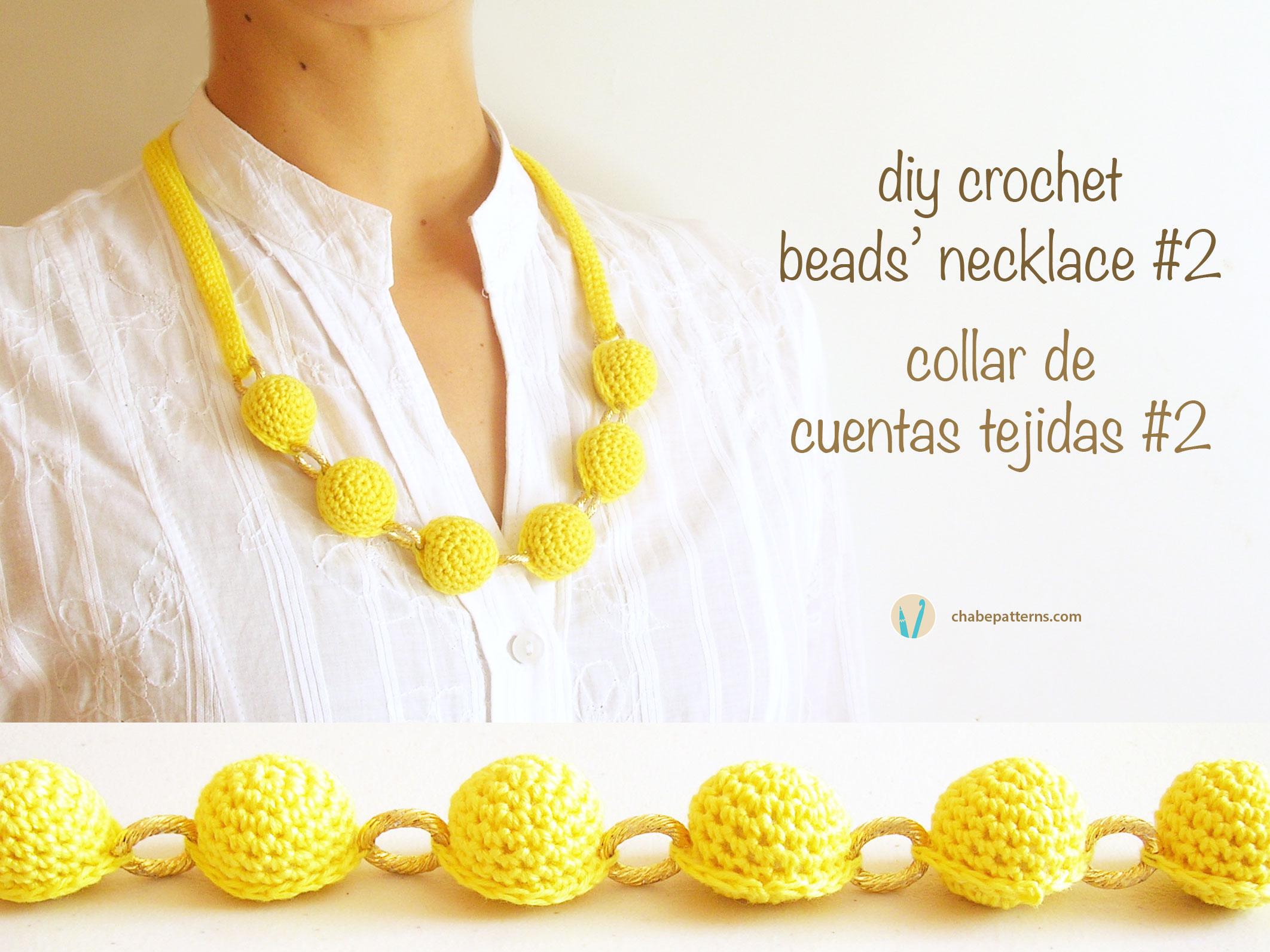 Crochet beads necklace #2/ Collar de cuentas tejidas #2