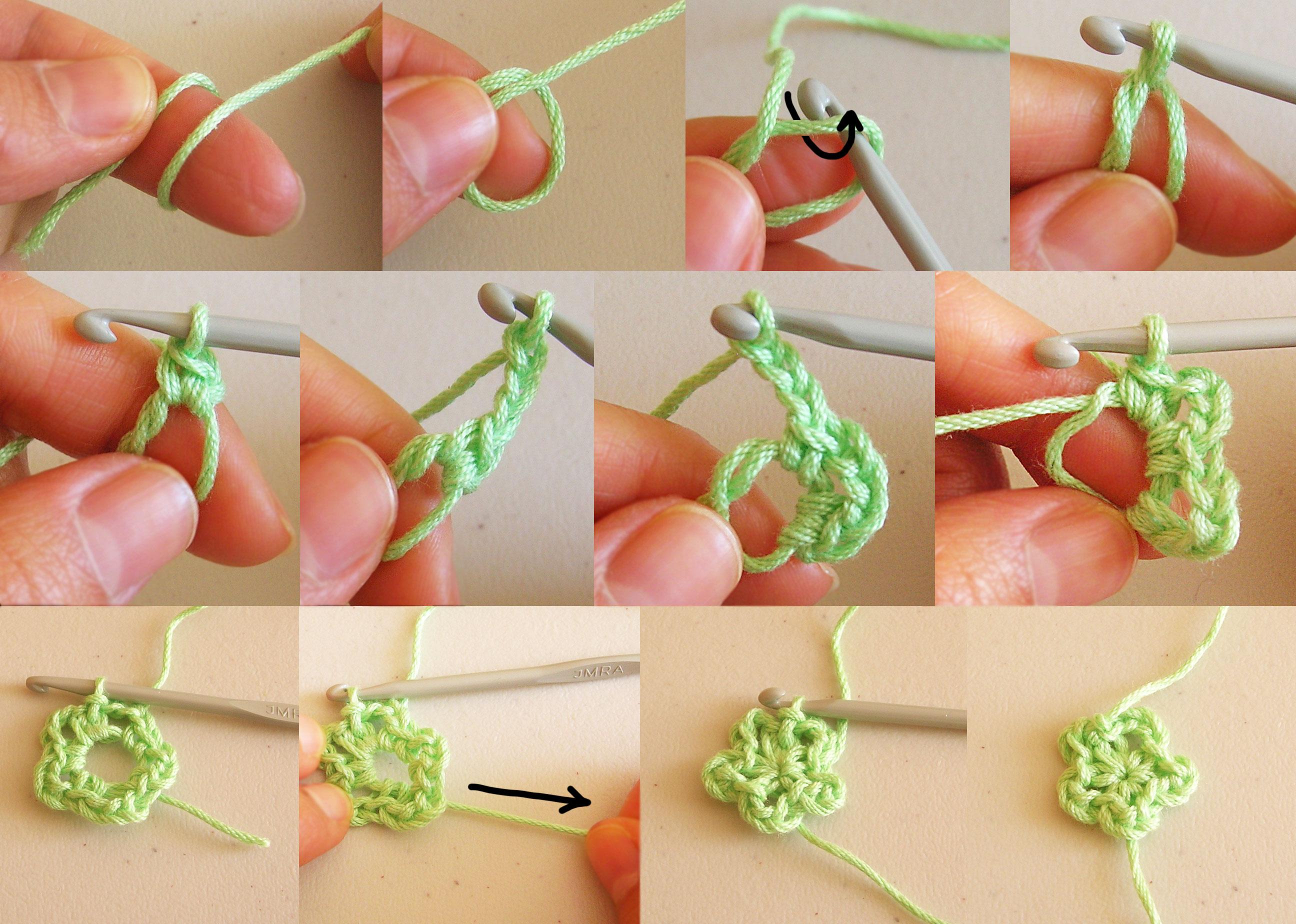 Crochet collar with flowers cuello con flores a ganchillo - Hacer flores de ganchillo ...