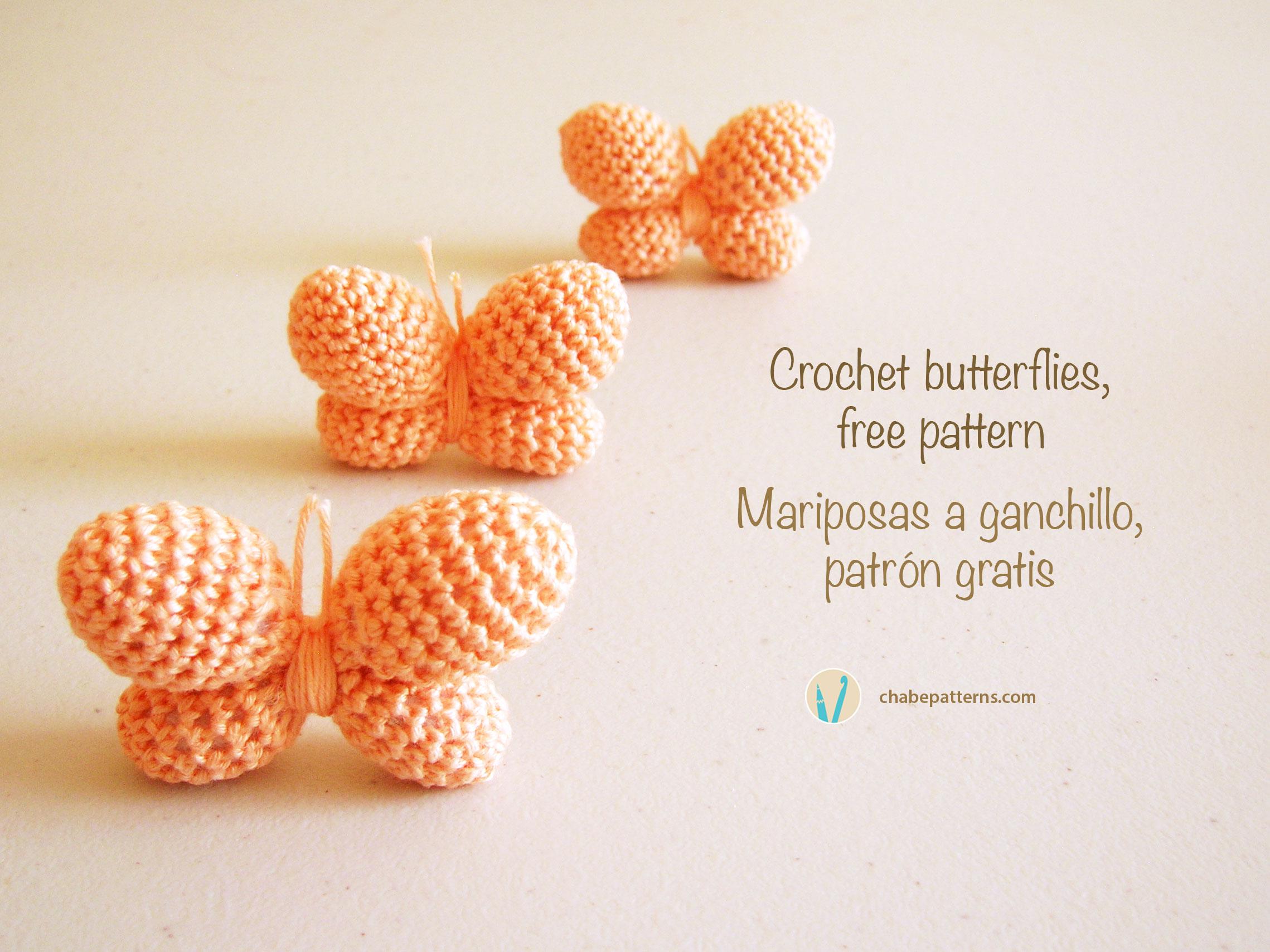 Crochet butterflies/ Mariposas a ganchillo