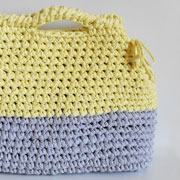 XL upcycled fabric bag/Bolso XL de trapillo