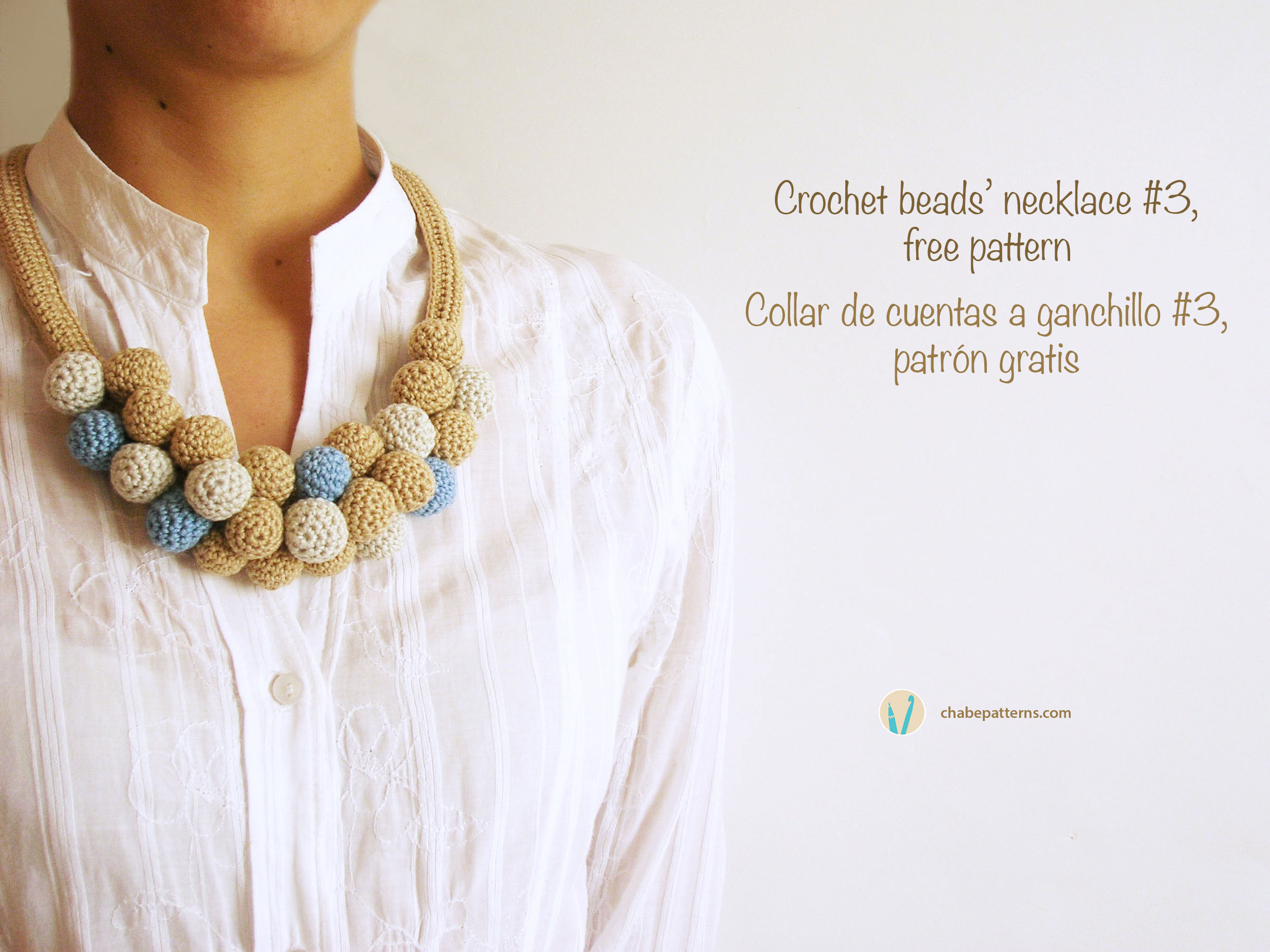 Crochet beads\' necklace #3/ Collar de cuentas tejidas #3