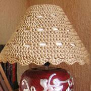 Lampshade cozy/ Funda para lámpara
