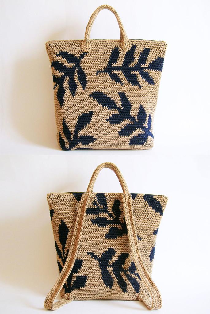 Leaves backpack pattern/ Patrón para mochila de hojas