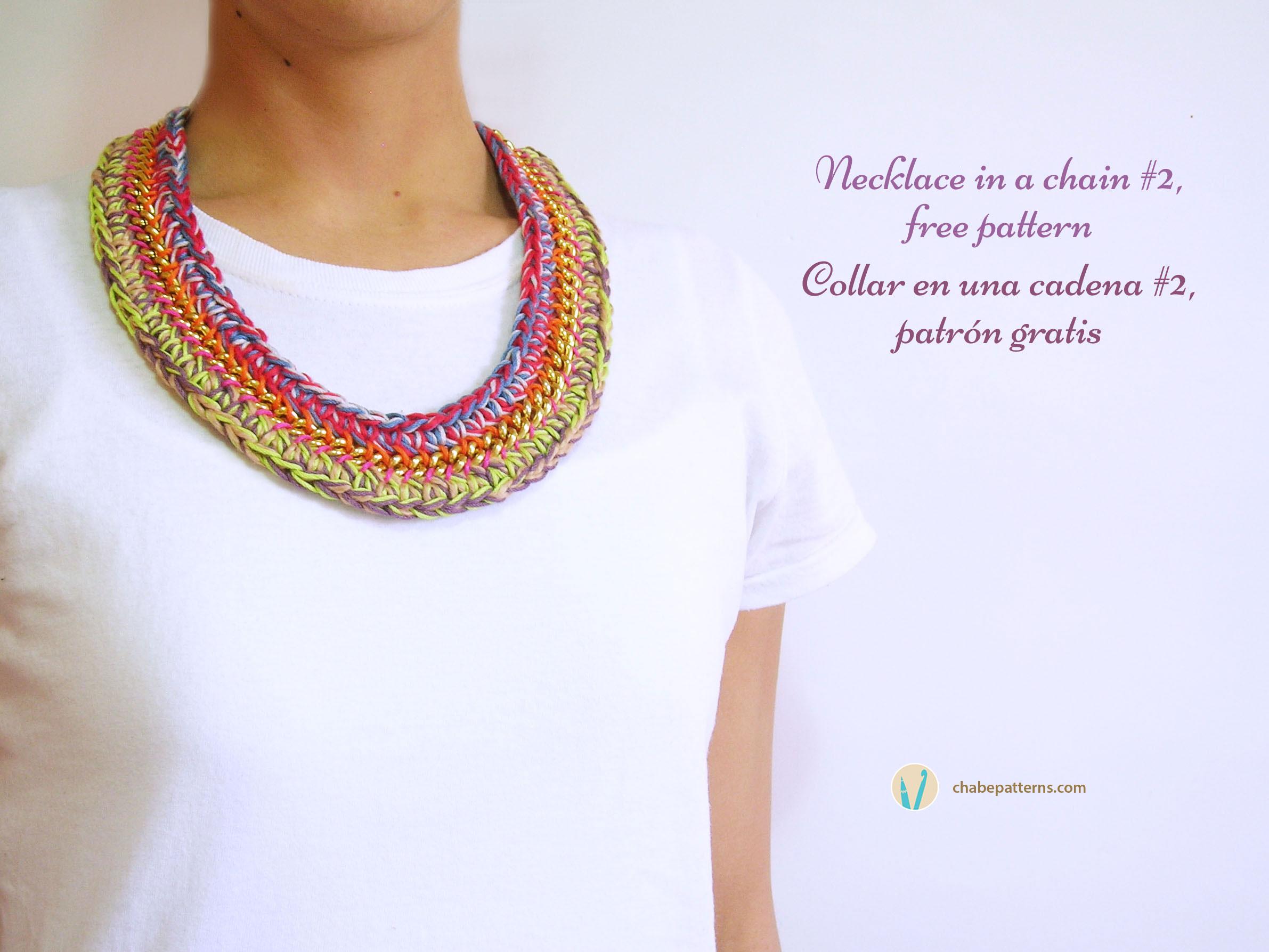 Lujoso Collar De Crochet Patrón Libre Modelo - Manta de Tejer Patrón ...