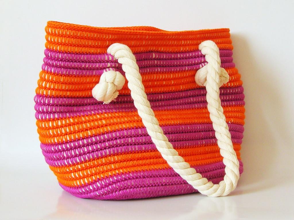 Crochet pattern for beach bag/ Patrón para bolso de playa