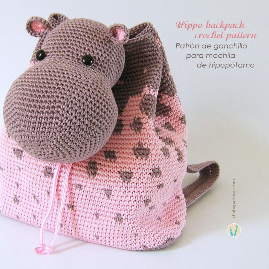 Hippo backpack/ Mochila de hipopótamo