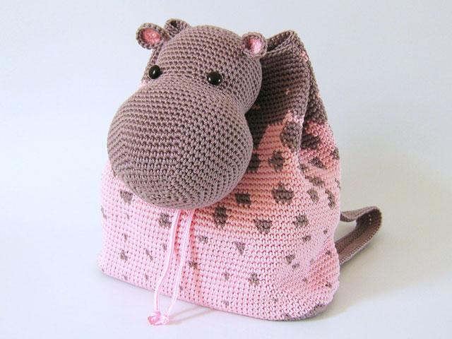 Hippo Amigurumi Patron : Hippo backpack/ Mochila de hipopotamo Chabepatterns