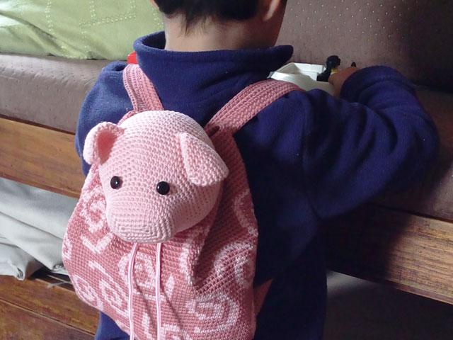 Pig backpack/ Mochila de puerquito