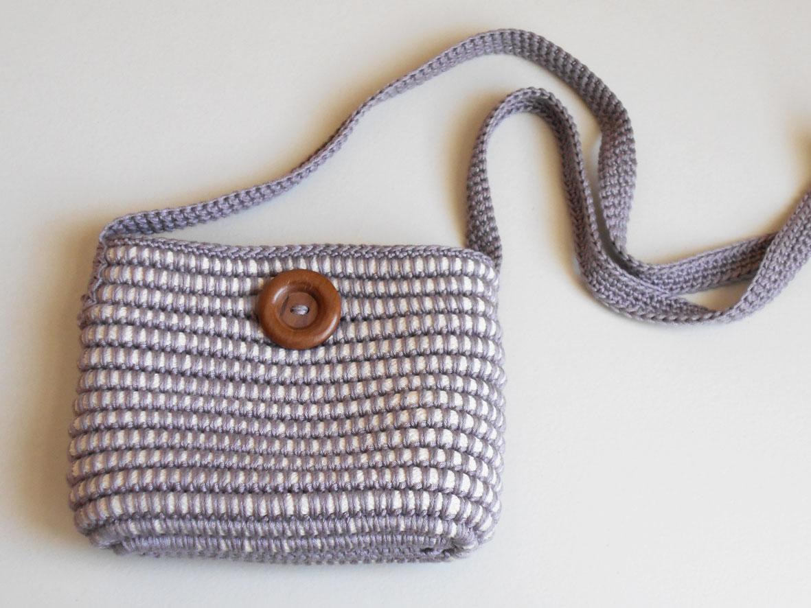 Free Crochet Pattern For Cross Body Bag : Cross-body bag/ Bolso cruzado Chabepatterns