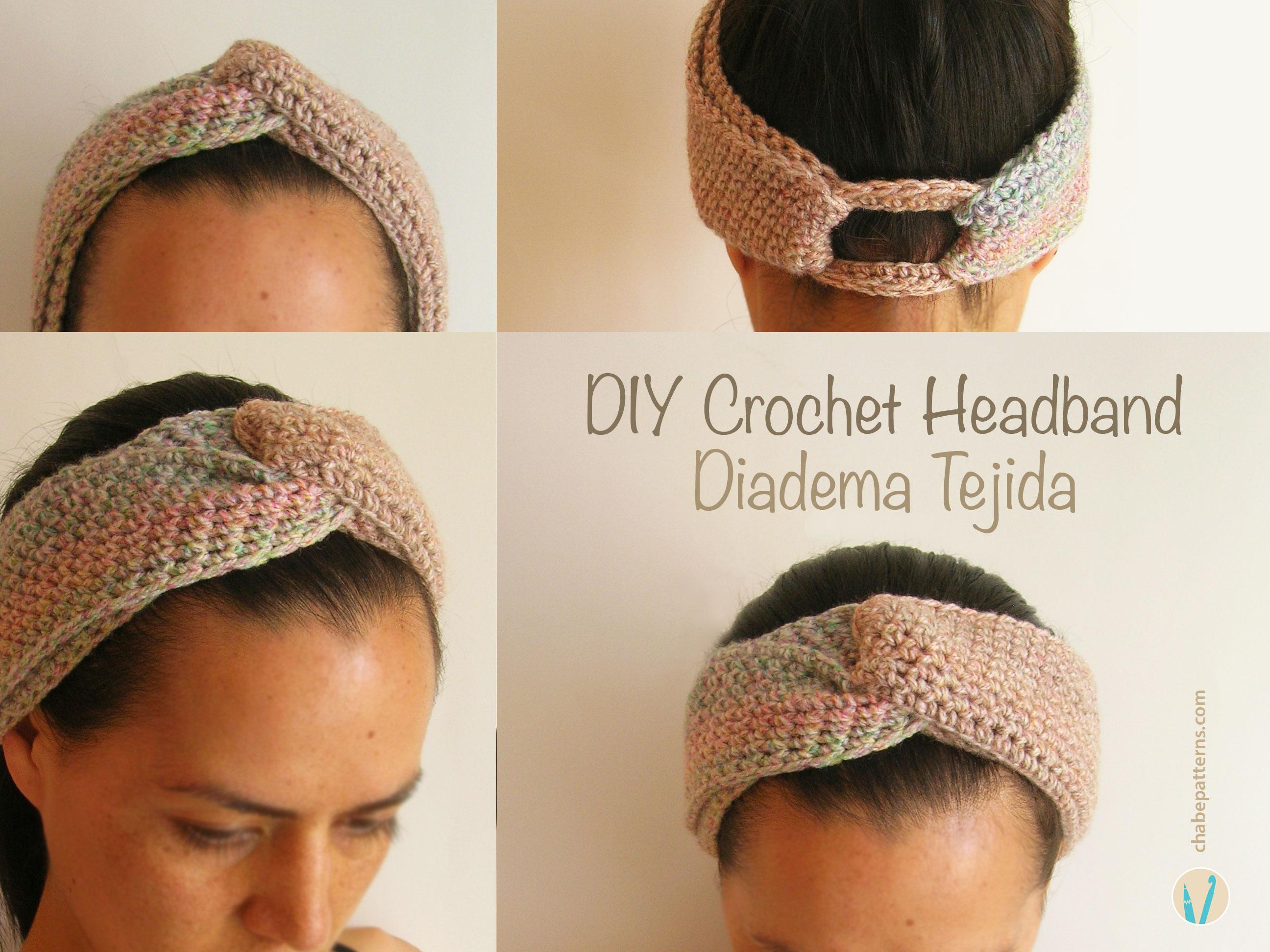 Crochet headband diadema tejida - Diademas de ganchillo ...
