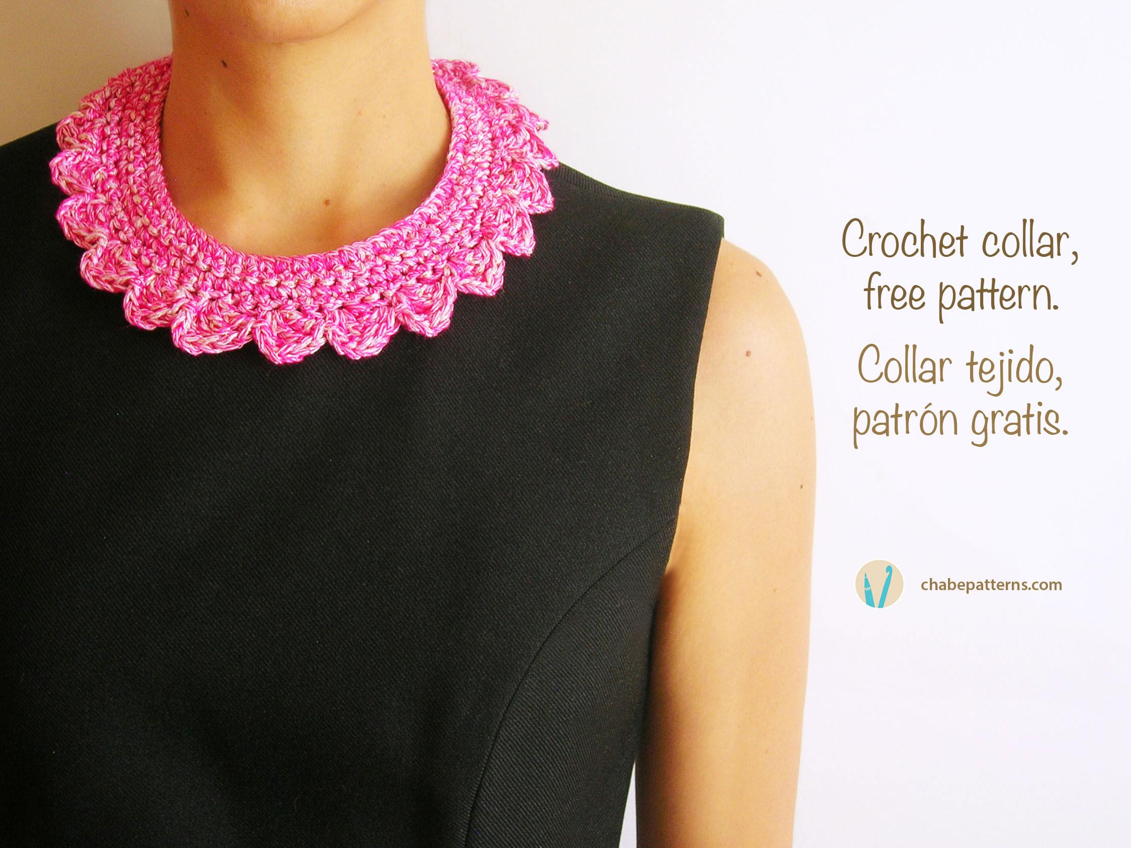 Crochet collar/ Collar tejido | Chabepatterns